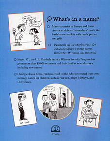 The Name Game - A Look Behind The Labels by Donna M. Jackson. Illustrated by Ted Stearn.